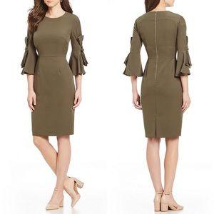 Antonio Melani | Brek Bow Sleeve Dress •Dune Green
